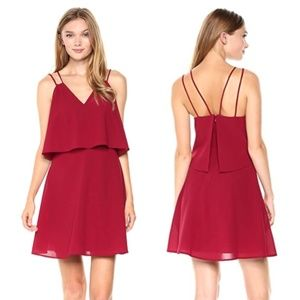 SALE Ali & Jay Burgundy Free Spirit Ruffle Dress
